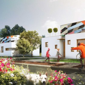 Visualisation, Render, Graphic, living, colors, park, architecture, austrian architecture, german architecture, prefabricated housing, design