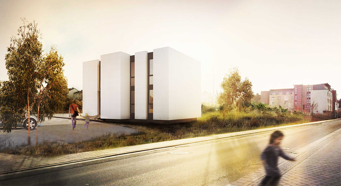 Visualisation for Zapp-Architecture, Physiotherapy practice, Bad Kreuznach, Germany, austria, austrian architects, german architects, handicap, sunset