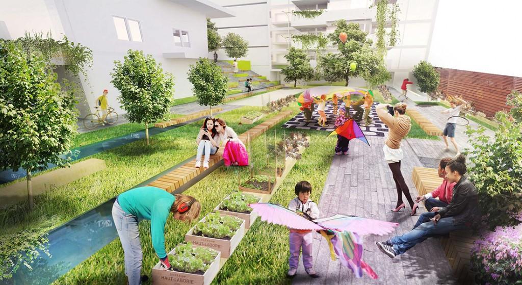 Visualisation, render, graphic, housing, vienna, architecture, garden, austrian, architects, fun,