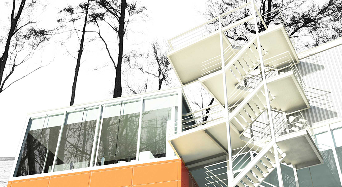 Windsurfing spot Zalew Zegrzynski, Temporary architecture, Render, Visualisation, Diploma, Sport, Recreation, Architecture, WAPW, Architecture Faculty, Student design